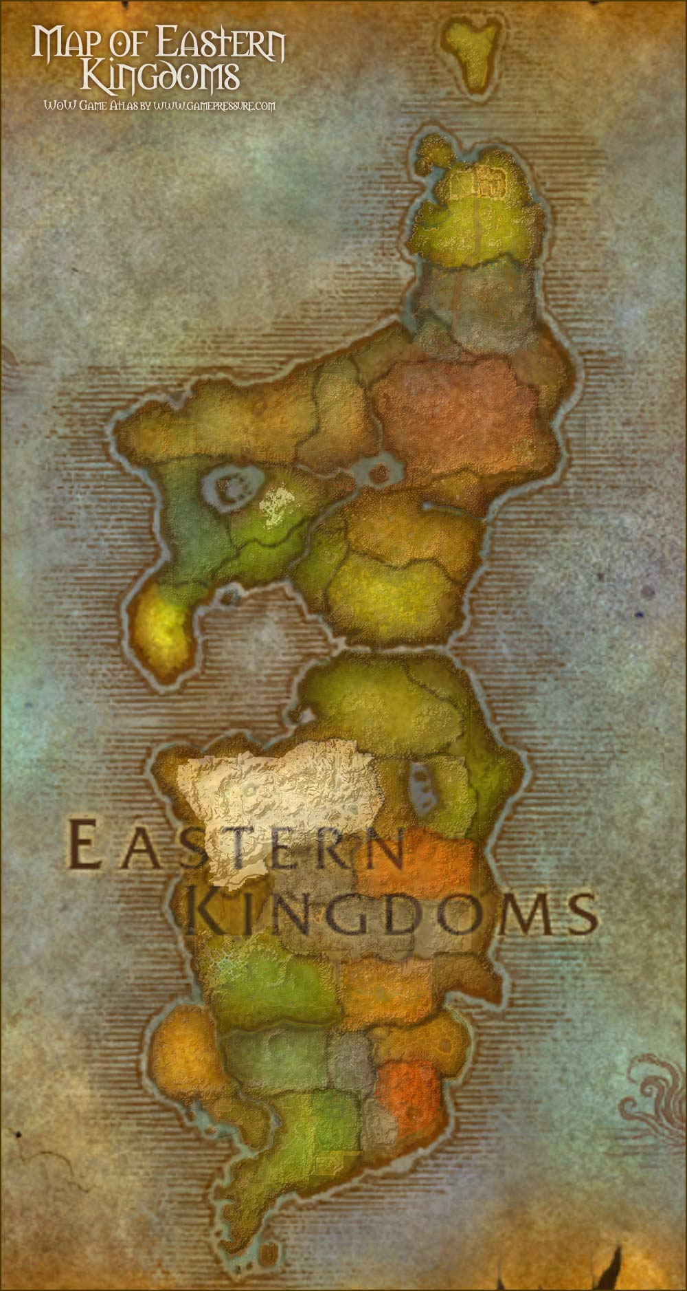Eastern Kingdoms Map Map of Eastern Kingdoms   World of Warcraft