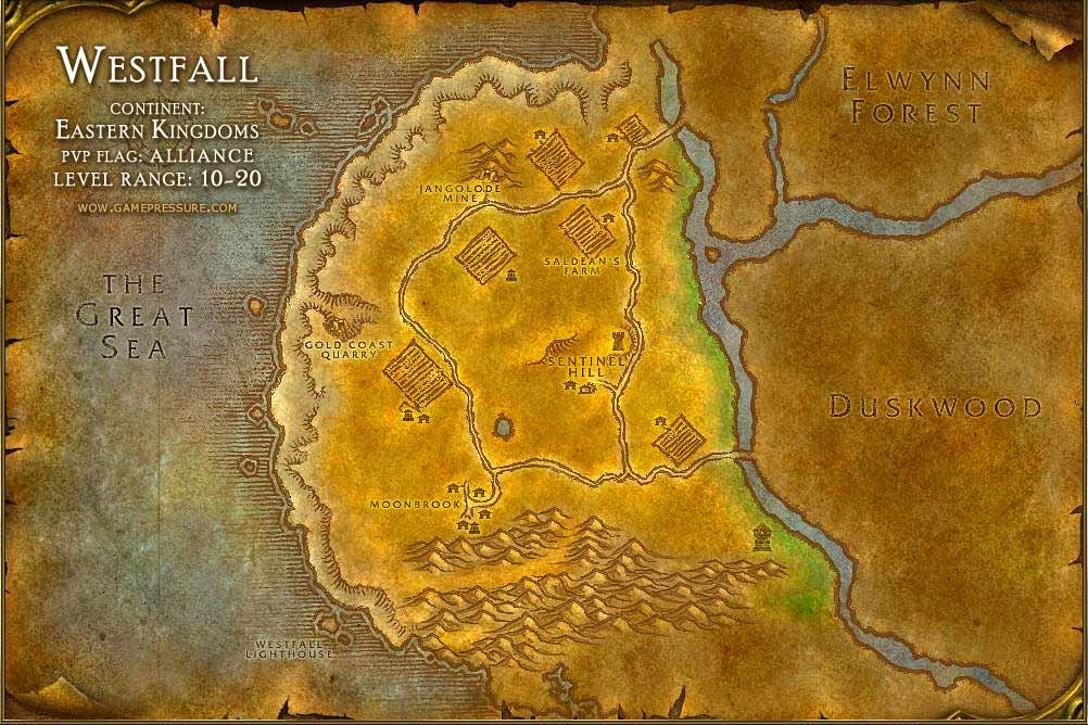 Good West Fall #3: Maps, Quests, Items, NPCs, Mobs And More For WoW