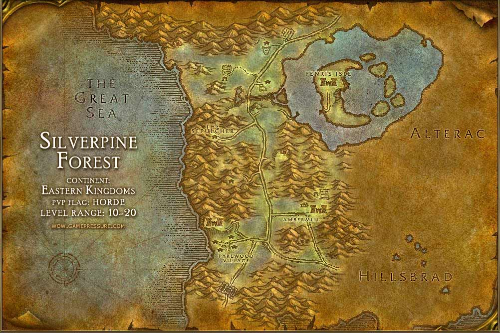 Silverpine forest map with locations npcs and quests world of silverpine forest map with locations npcs and quests world of warcraft publicscrutiny Image collections