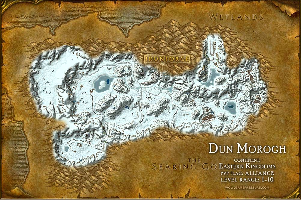 Dun Morogh Map with Locations, NPCs and Quests   World of Warcraft