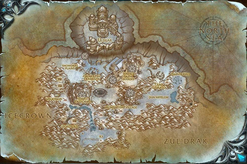 The Storm Peaks Map With Locations NPCs And Quests World Of - Storm map