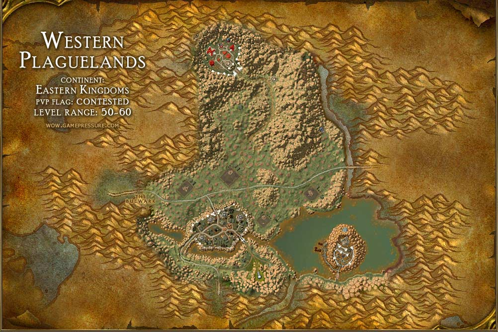 Western Plaguelands Map with Locations, NPCs and Quests ...