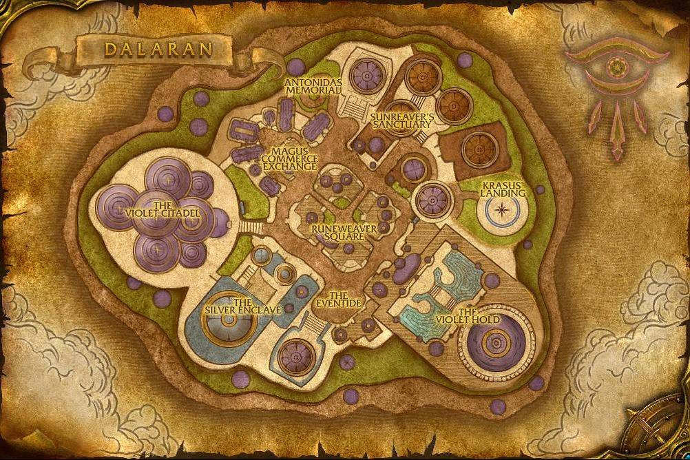 Dalaran Map with Locations, NPCs and Quests   World of Warcraft