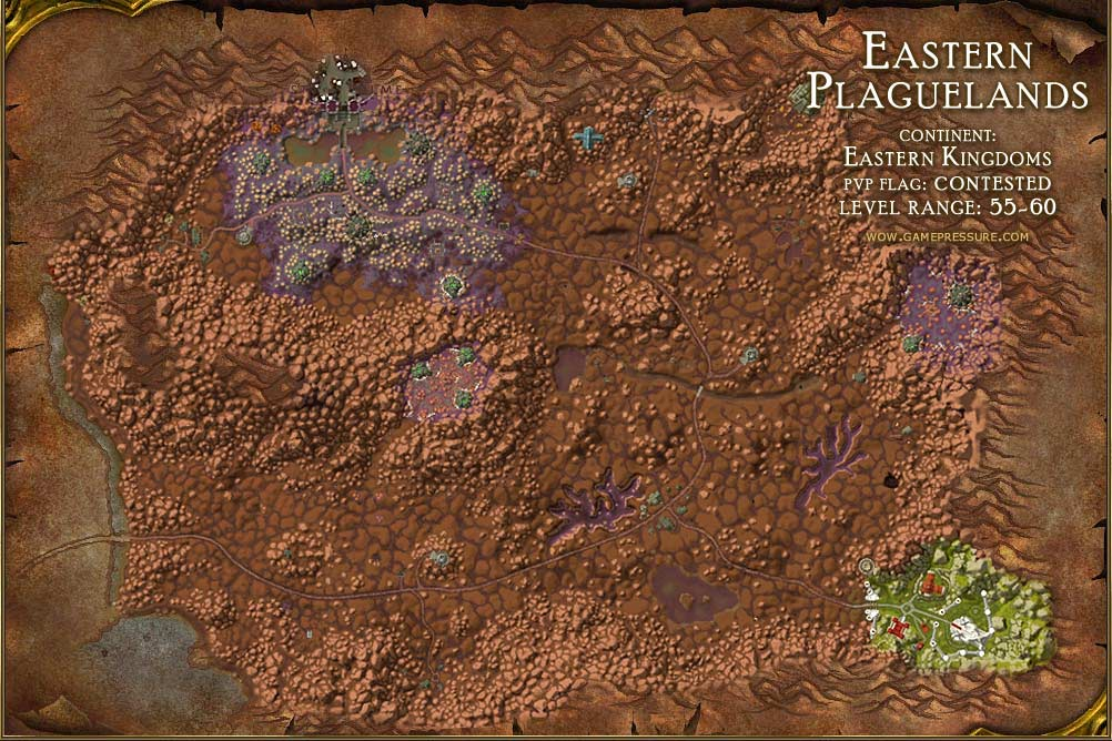 Map 60.Eastern Plaguelands Map With Locations Npcs And Quests World Of