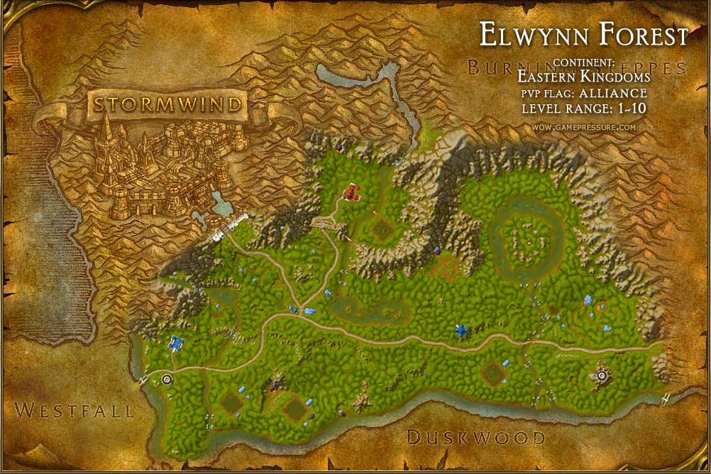 Elwynn forest map with locations npcs and quests world of warcraft sciox Choice Image