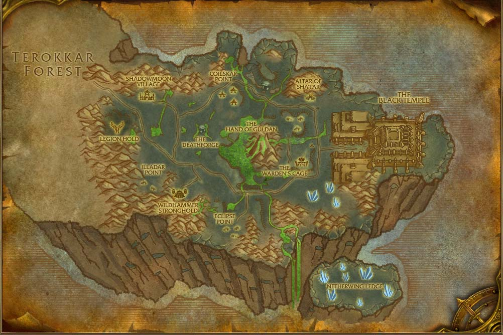 Legion World Map.Shadowmoon Valley Map With Locations Npcs And Quests World Of
