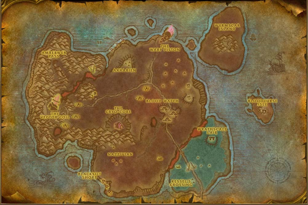 Bloodmyst isle map with locations npcs and quests world of warcraft gumiabroncs Choice Image